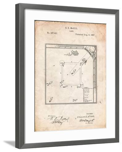 Our National Ball Game Patent-Cole Borders-Framed Art Print