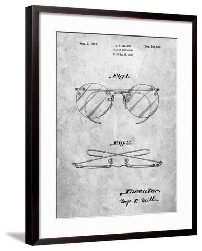 Eyeglasses Spectacles Patent-Cole Borders-Framed Art Print