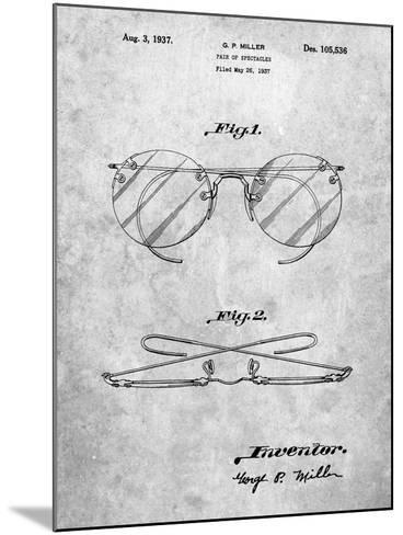 Eyeglasses Spectacles Patent-Cole Borders-Mounted Art Print