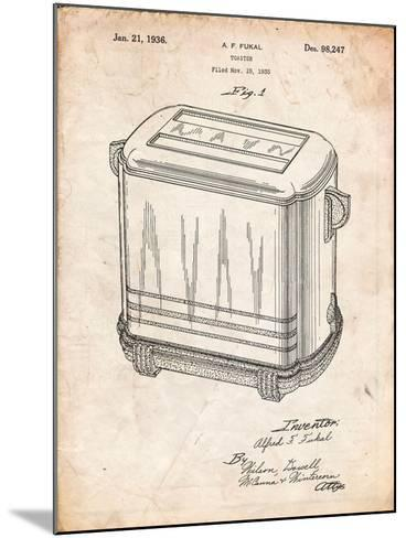 Toaster Patent Art-Cole Borders-Mounted Art Print