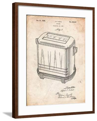 Toaster Patent Art-Cole Borders-Framed Art Print