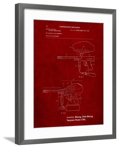 Paintball Gun Patent Art-Cole Borders-Framed Art Print