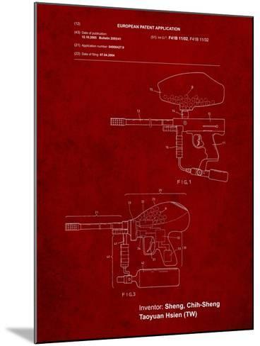 Paintball Gun Patent Art-Cole Borders-Mounted Art Print