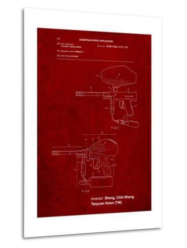 Paintball Gun Patent Art-Cole Borders-Metal Print