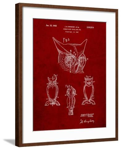 Owl Bird of Prey Patent-Cole Borders-Framed Art Print