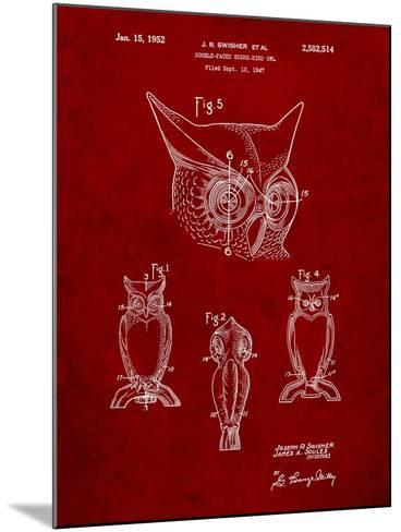 Owl Bird of Prey Patent-Cole Borders-Mounted Art Print