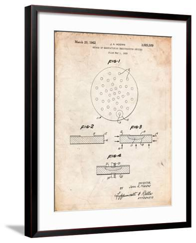 Transistor Semiconductor Patent-Cole Borders-Framed Art Print