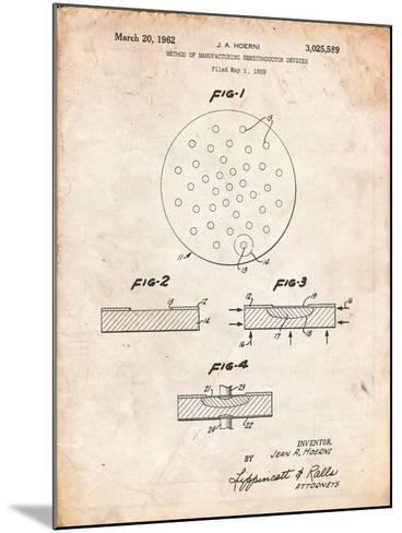 Transistor Semiconductor Patent-Cole Borders-Mounted Art Print