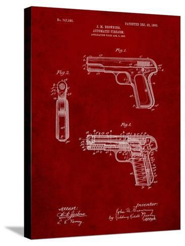Browning No. 2 Handgun Patent-Cole Borders-Stretched Canvas Print