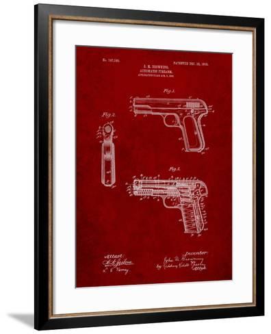 Browning No. 2 Handgun Patent-Cole Borders-Framed Art Print
