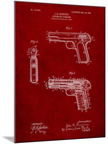 Browning No. 2 Handgun Patent-Cole Borders-Mounted Art Print