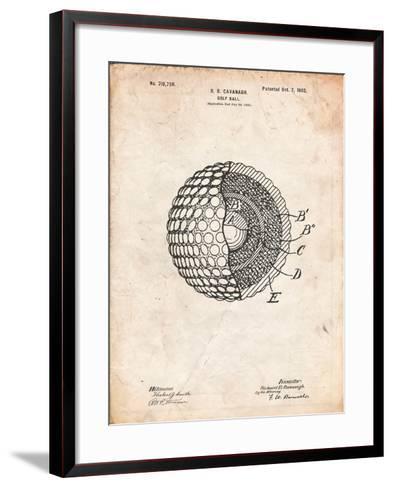 Golf Ball 1902 Patent-Cole Borders-Framed Art Print