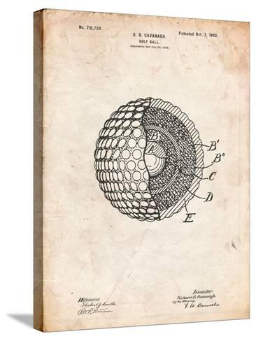 Golf Ball 1902 Patent-Cole Borders-Stretched Canvas Print