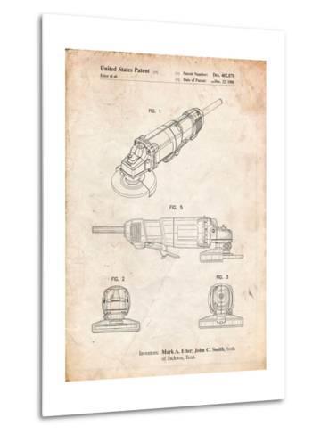 Grinder, Grinder Patent-Cole Borders-Metal Print