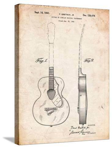 Gretsch 6022 Rancher Guitar Patent-Cole Borders-Stretched Canvas Print