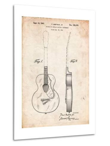 Gretsch 6022 Rancher Guitar Patent-Cole Borders-Metal Print