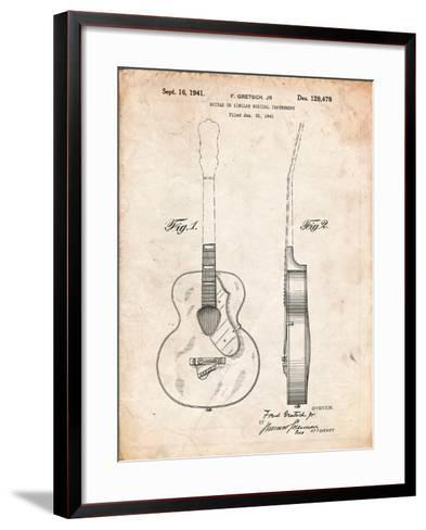 Gretsch 6022 Rancher Guitar Patent-Cole Borders-Framed Art Print