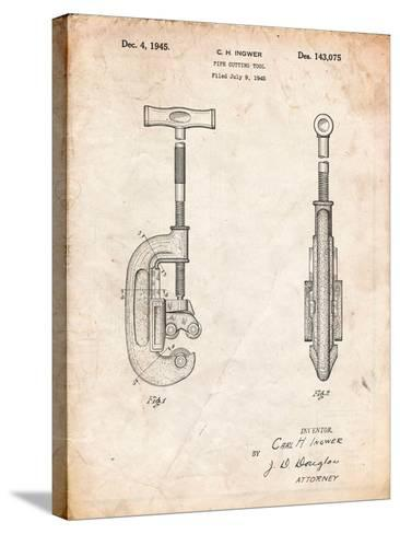 Pipe Cutting Tool Patent-Cole Borders-Stretched Canvas Print