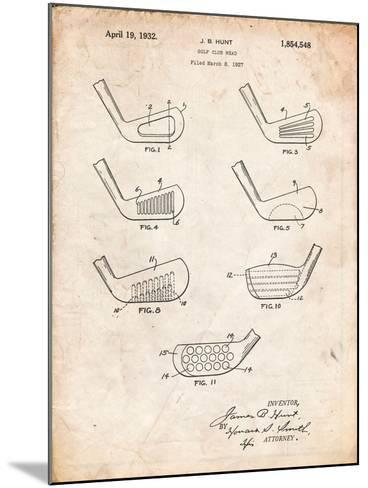 Golf Club Head Patent-Cole Borders-Mounted Art Print