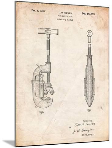 Pipe Cutting Tool Patent-Cole Borders-Mounted Art Print