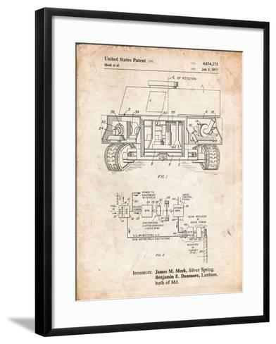 Turret Drive System Patent-Cole Borders-Framed Art Print
