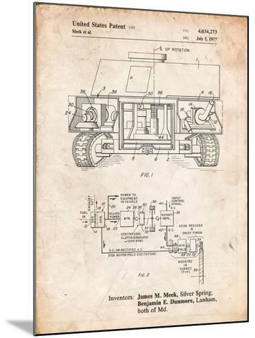 Turret Drive System Patent-Cole Borders-Mounted Art Print