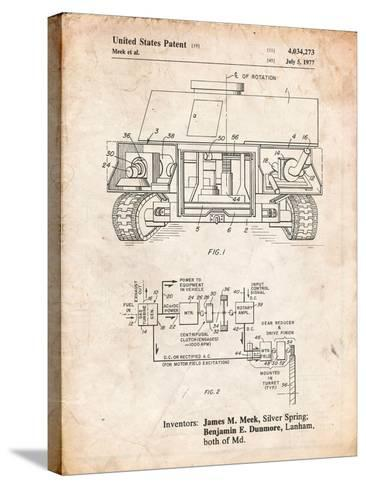 Turret Drive System Patent-Cole Borders-Stretched Canvas Print