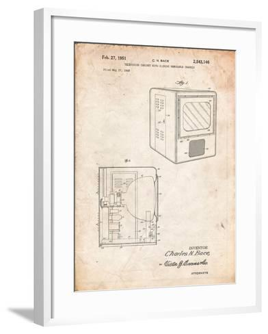 Tube Television Patent-Cole Borders-Framed Art Print