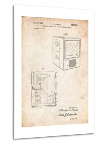 Tube Television Patent-Cole Borders-Metal Print