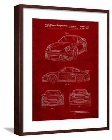 Porsche 911 with Spoiler Patent-Cole Borders-Framed Art Print