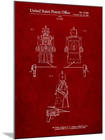 Robert the Robot 1955 Toy Robot Patent-Cole Borders-Mounted Art Print