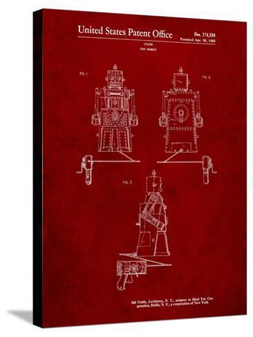 Robert the Robot 1955 Toy Robot Patent-Cole Borders-Stretched Canvas Print