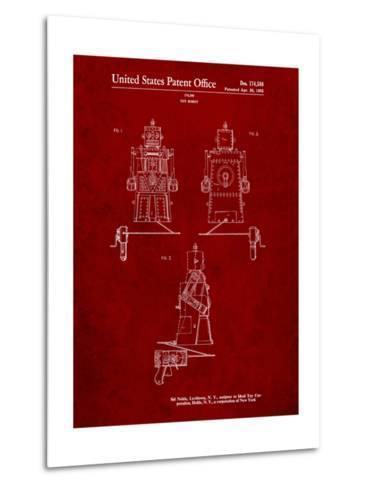 Robert the Robot 1955 Toy Robot Patent-Cole Borders-Metal Print