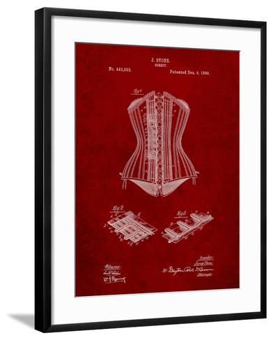 Corset Patent-Cole Borders-Framed Art Print