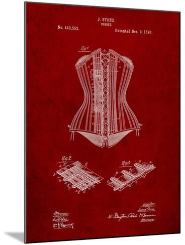 Corset Patent-Cole Borders-Mounted Art Print