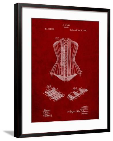 Corset Patent-Cole Borders-Framed Art Print