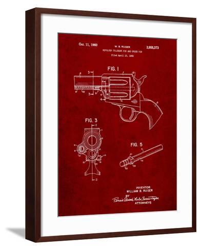Ruger Revolver Patent Art-Cole Borders-Framed Art Print