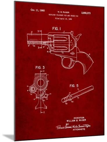 Ruger Revolver Patent Art-Cole Borders-Mounted Art Print