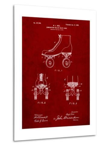 Roller Skate 1899 Patent-Cole Borders-Metal Print