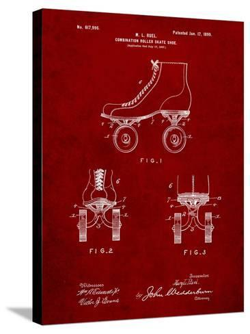 Roller Skate 1899 Patent-Cole Borders-Stretched Canvas Print