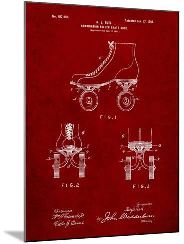 Roller Skate 1899 Patent-Cole Borders-Mounted Art Print