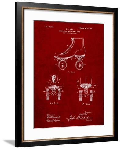 Roller Skate 1899 Patent-Cole Borders-Framed Art Print