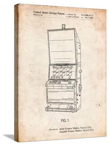 Slot Machine Patent-Cole Borders-Stretched Canvas Print