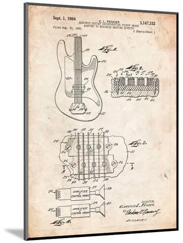 Fender Guitar Pickups Patent-Cole Borders-Mounted Art Print