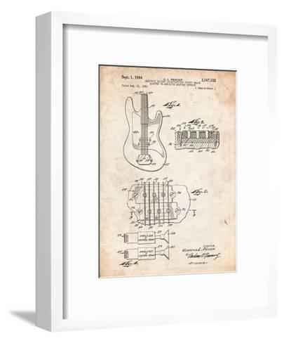 Fender Guitar Pickups Patent-Cole Borders-Framed Art Print