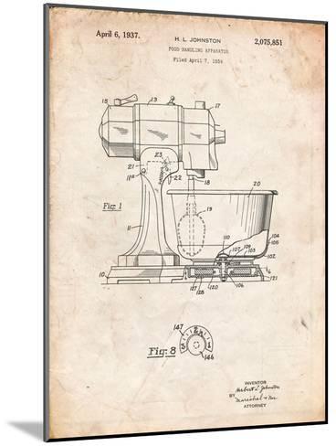 Kitchenaid Kitchen Mixer Patent-Cole Borders-Mounted Art Print