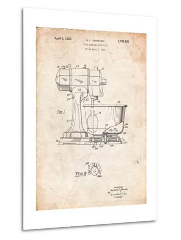 Kitchenaid Kitchen Mixer Patent-Cole Borders-Metal Print