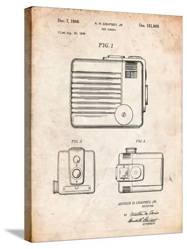 Kodak Brownie Hawkeye Patent-Cole Borders-Stretched Canvas Print