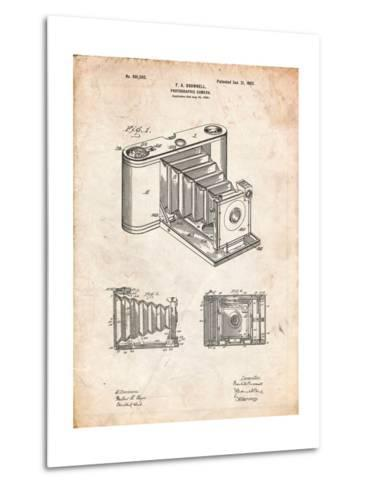 Kodak Pocket Folding Camera Patent-Cole Borders-Metal Print