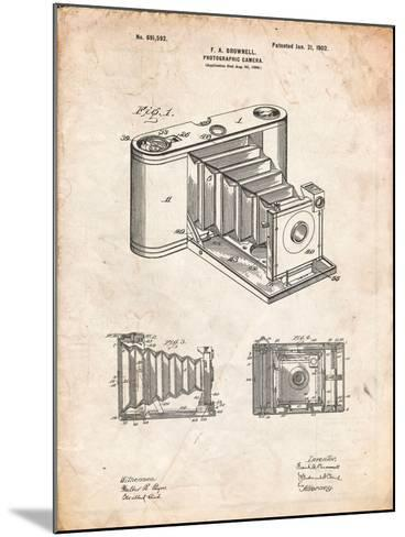Kodak Pocket Folding Camera Patent-Cole Borders-Mounted Art Print